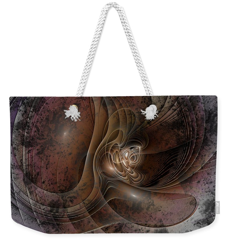 Abstract Weekender Tote Bag featuring the digital art Grunge by Casey Kotas