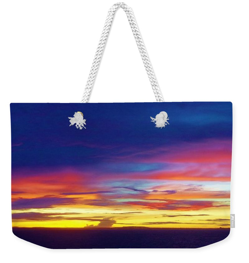 Guam Weekender Tote Bag featuring the photograph Guam Sunrise I 10/2015 by Phyllis Spoor