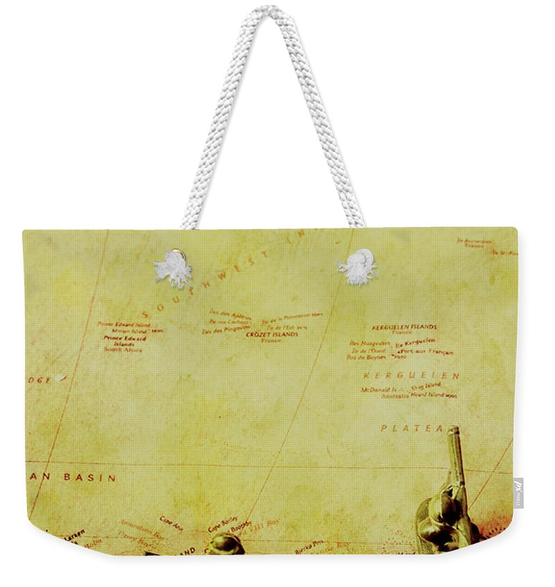 German Weekender Tote Bag featuring the photograph Guarding Histories Untold by Jorgo Photography - Wall Art Gallery