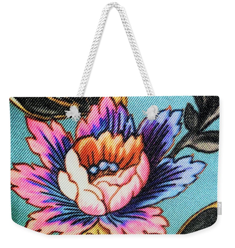 Weekender Tote Bag featuring the photograph Garden Flower by Ceil Diskin