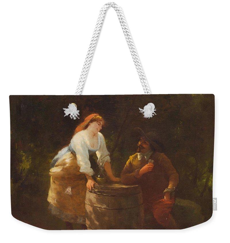 Guglielmo Innocenti (italian School Weekender Tote Bag featuring the painting Guglielmo Innocenti by MotionAge Designs