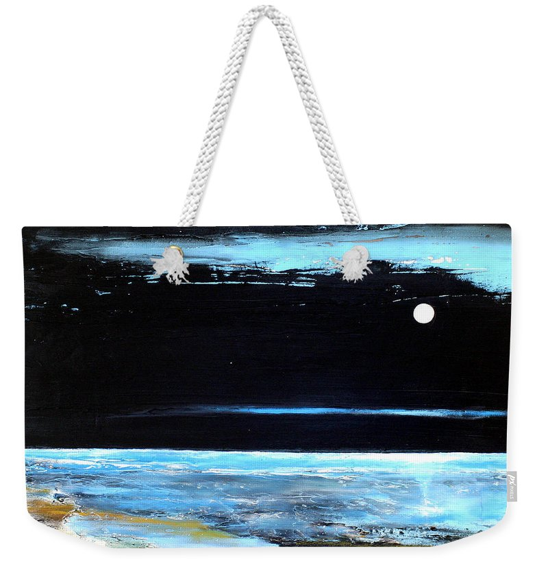 Landscape Weekender Tote Bag featuring the painting Guiding Light by Toni Grote