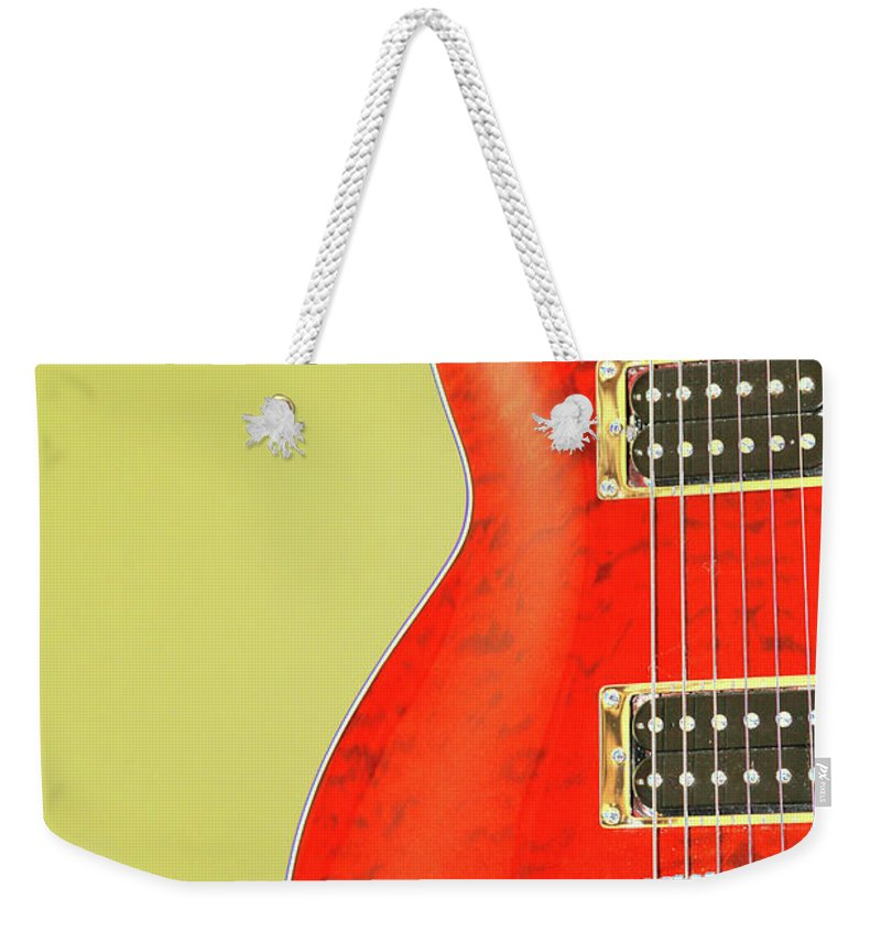 Guitar Weekender Tote Bag featuring the photograph Guitar Pic by Karol Livote