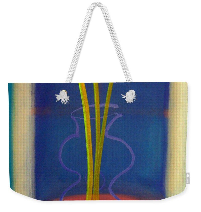 Guitar Weekender Tote Bag featuring the painting Guitar Vase by Charles Stuart