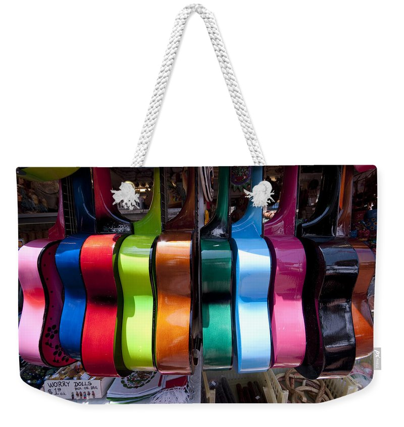 Guitars Weekender Tote Bag featuring the photograph Guitars by Mike Herdering