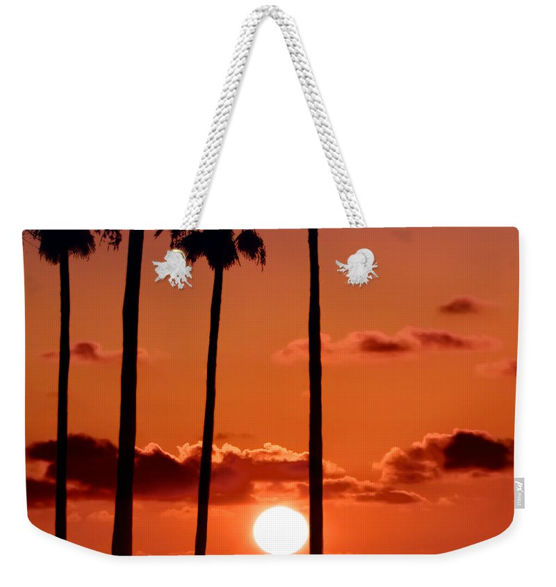Gulf Weekender Tote Bag featuring the photograph Gulf Coast Sunset by Bill Cannon
