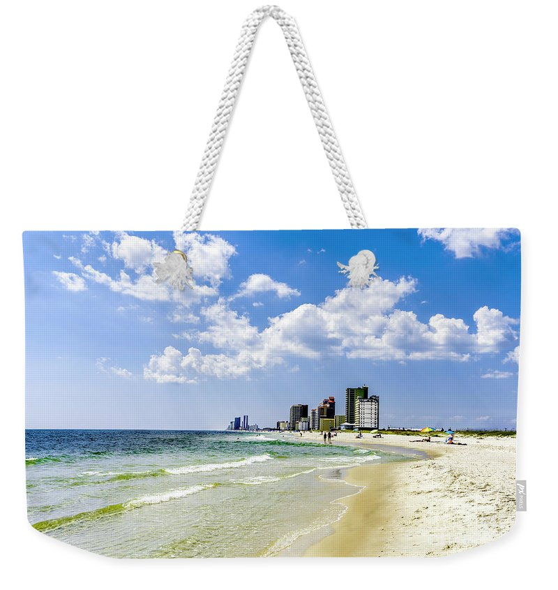 1746a Weekender Tote Bag featuring the photograph Gulf Shores Al Beach Seascape 1746a by Ricardos Creations