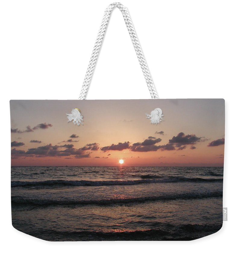 Gulf Weekender Tote Bag featuring the photograph Gulf Sunset by Bill Cannon