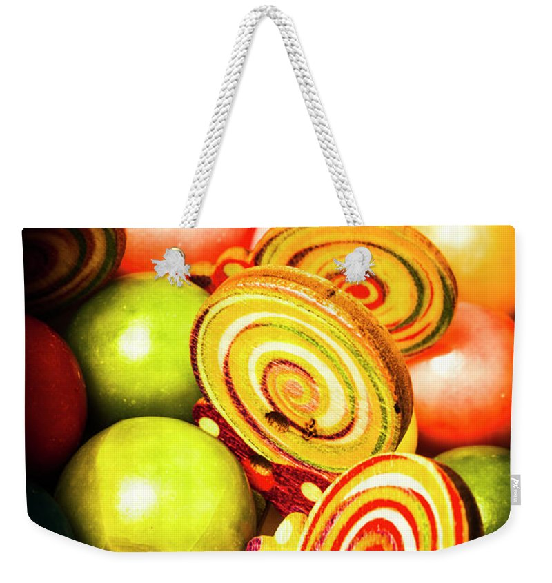 Gumballs Weekender Tote Bag featuring the photograph Gumdrops And Candy Pops by Jorgo Photography - Wall Art Gallery