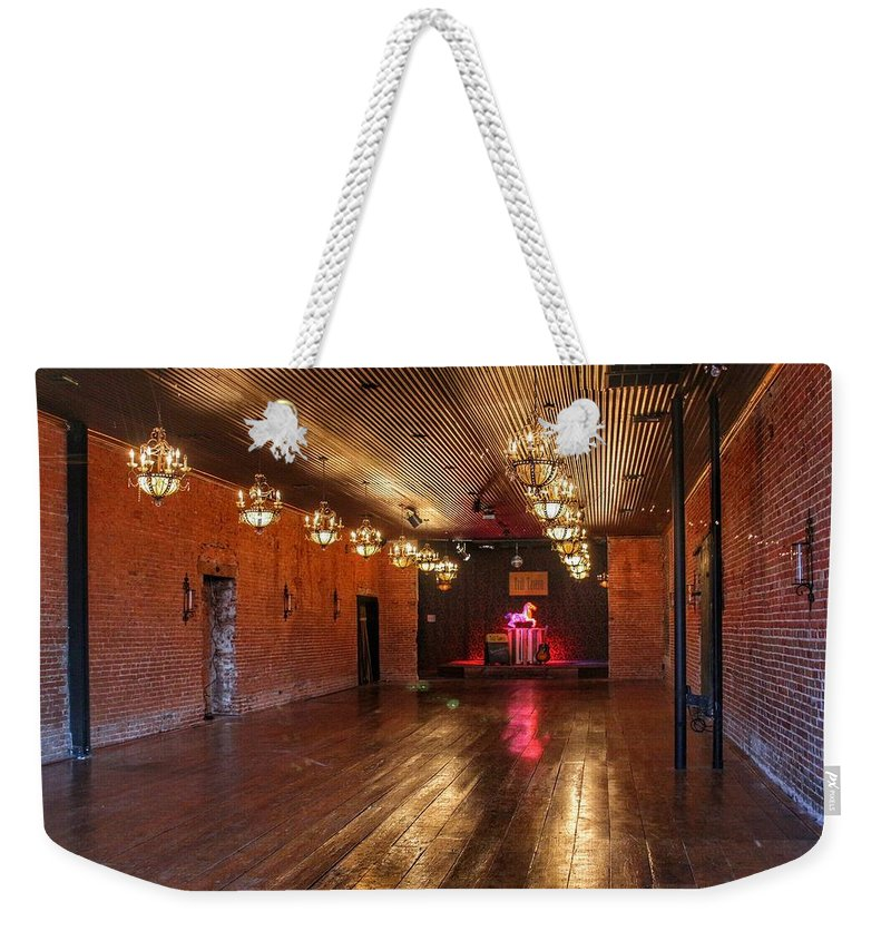 Guthrie Weekender Tote Bag featuring the photograph Guthrie Dance Hall by Buck Buchanan