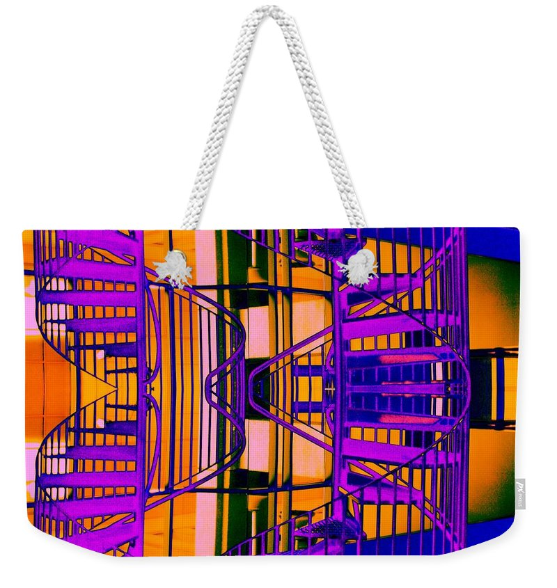 Staircase Weekender Tote Bag featuring the photograph Gym Staircase by Tim Allen