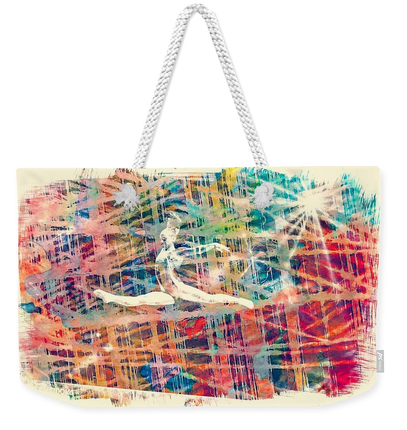 Gymnast Weekender Tote Bag featuring the photograph Gymnast,gymnastics by Jean Francois Gil