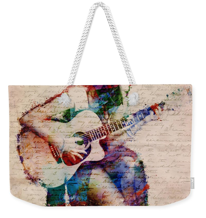 Gypsy Weekender Tote Bag featuring the digital art Gypsy Serenade by Nikki Smith