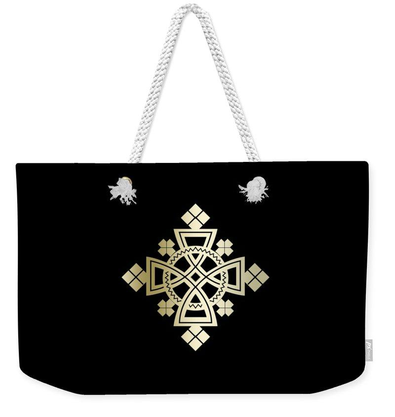 Habesha Weekender Tote Bag featuring the digital art Habesha Holy Cross by Filmon Tesfatsion