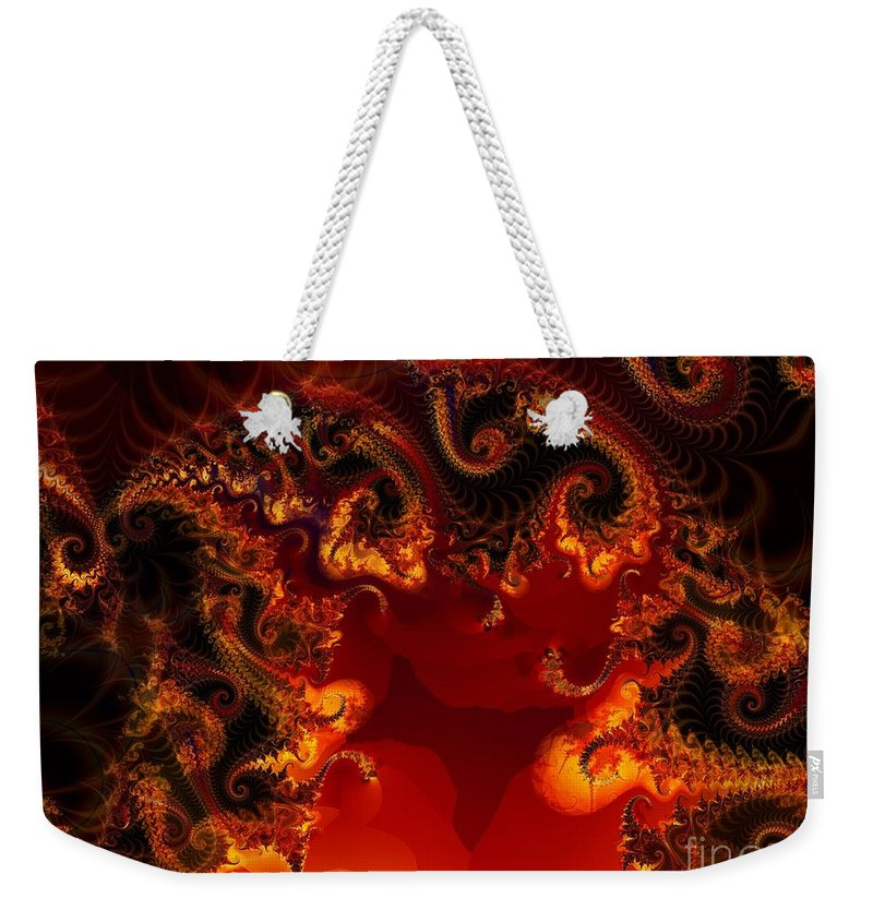 Fractal Weekender Tote Bag featuring the digital art Hades by Ron Bissett