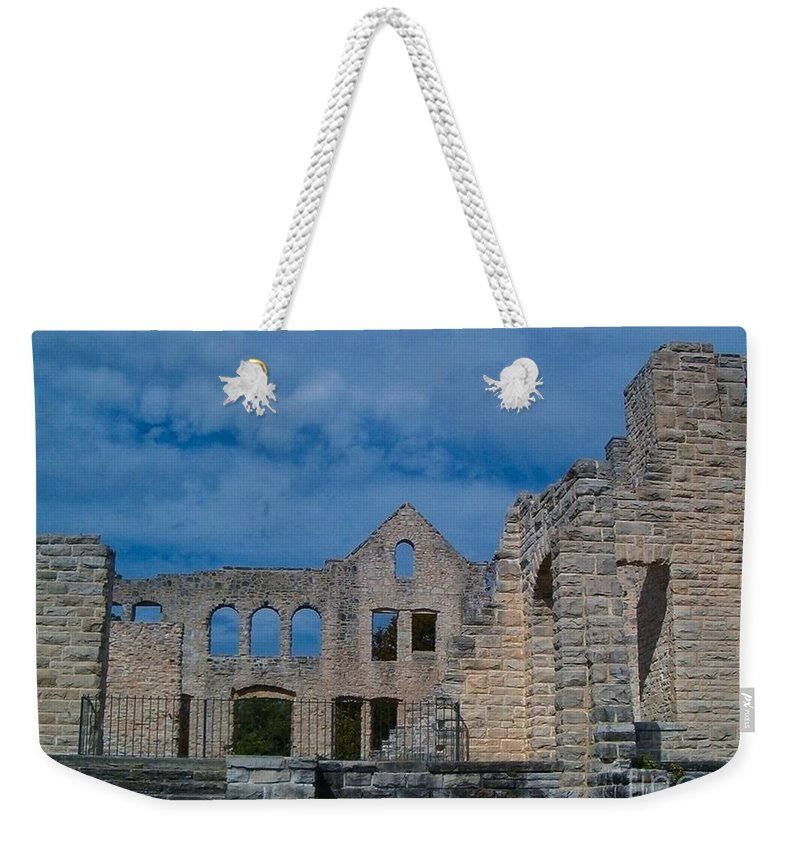 Castle Weekender Tote Bag featuring the photograph Haha Tonka Castle 1 by Sara Raber