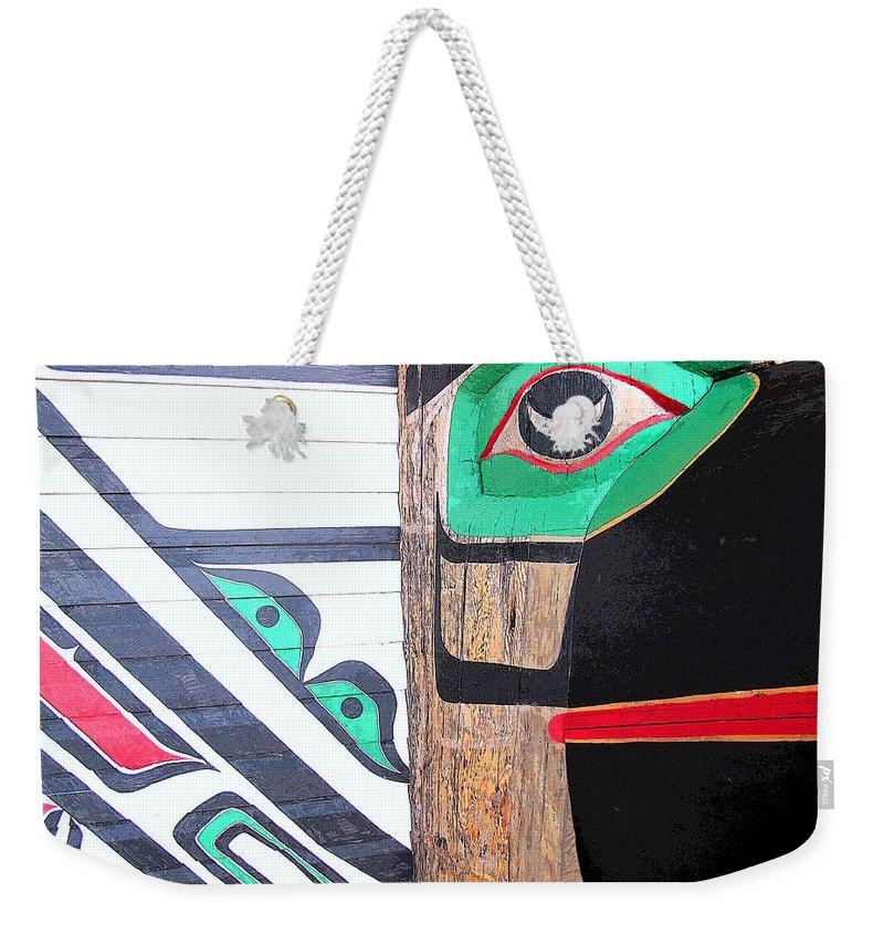 Bird Weekender Tote Bag featuring the photograph Haida One by Ian MacDonald