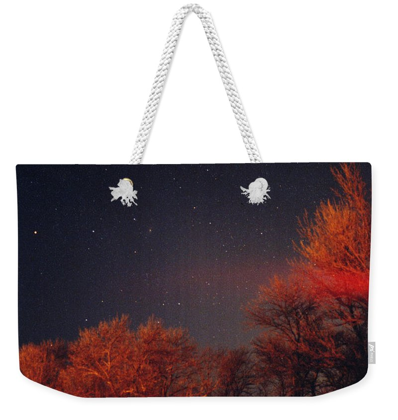 Comet Weekender Tote Bag featuring the photograph Hale-bopp Comet by Nancy Mueller
