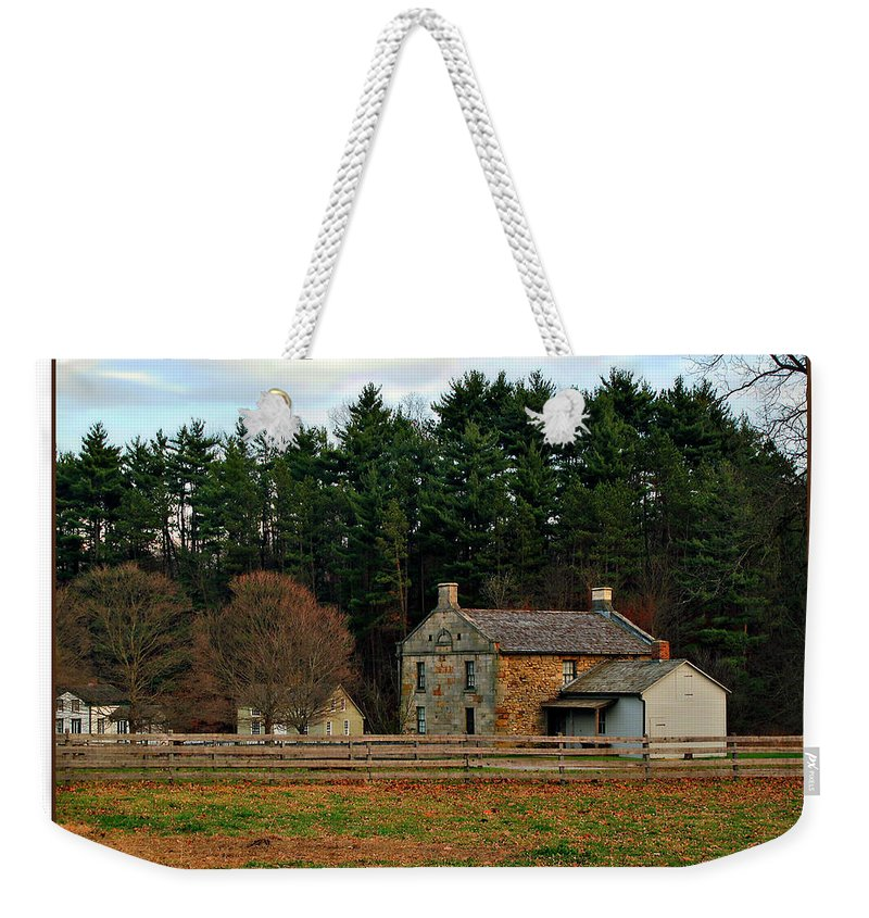 Hale Weekender Tote Bag featuring the photograph Hale Farm And Village by Joan Minchak