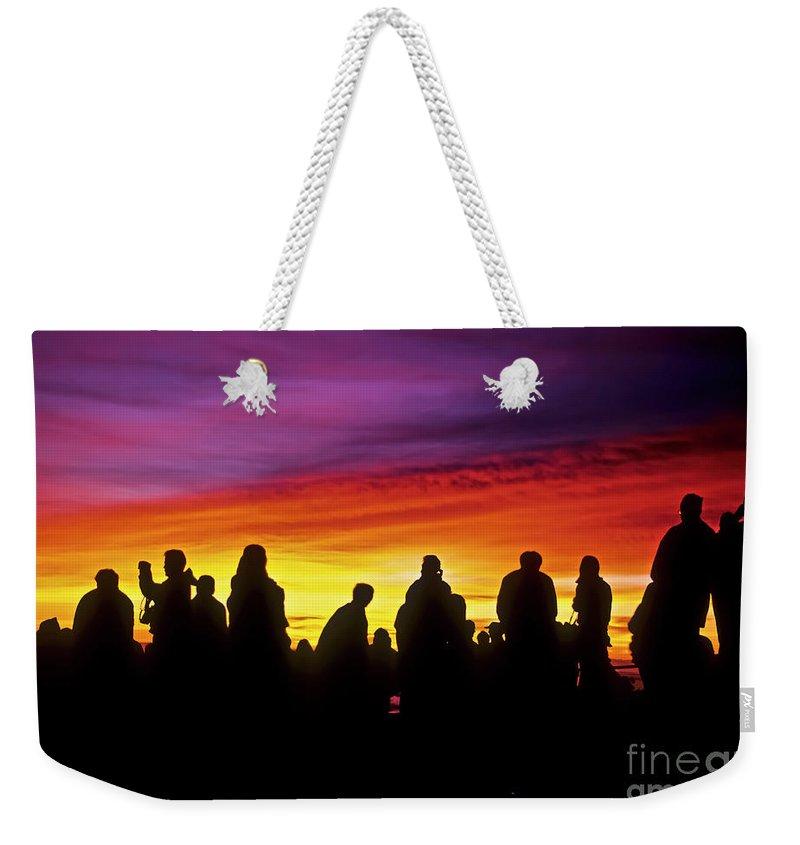 Haleakala Sunrise Weekender Tote Bag featuring the photograph Haleakala Color Show by Jim Cazel