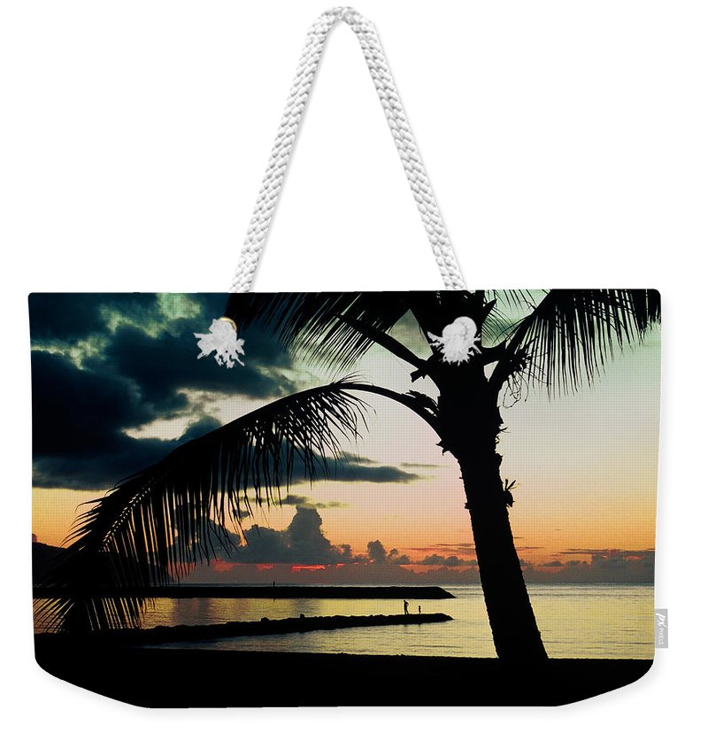 Haleiwa Weekender Tote Bag featuring the photograph Haleiwa by Steven Sparks