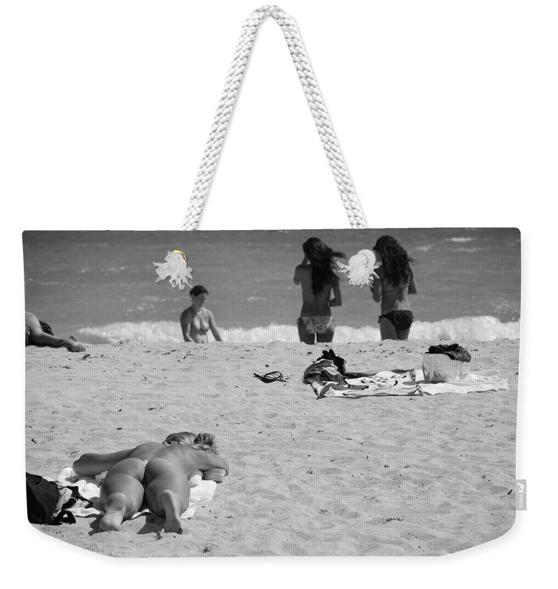 Miami Weekender Tote Bag featuring the photograph Half Dead Half Alive by Rob Hans