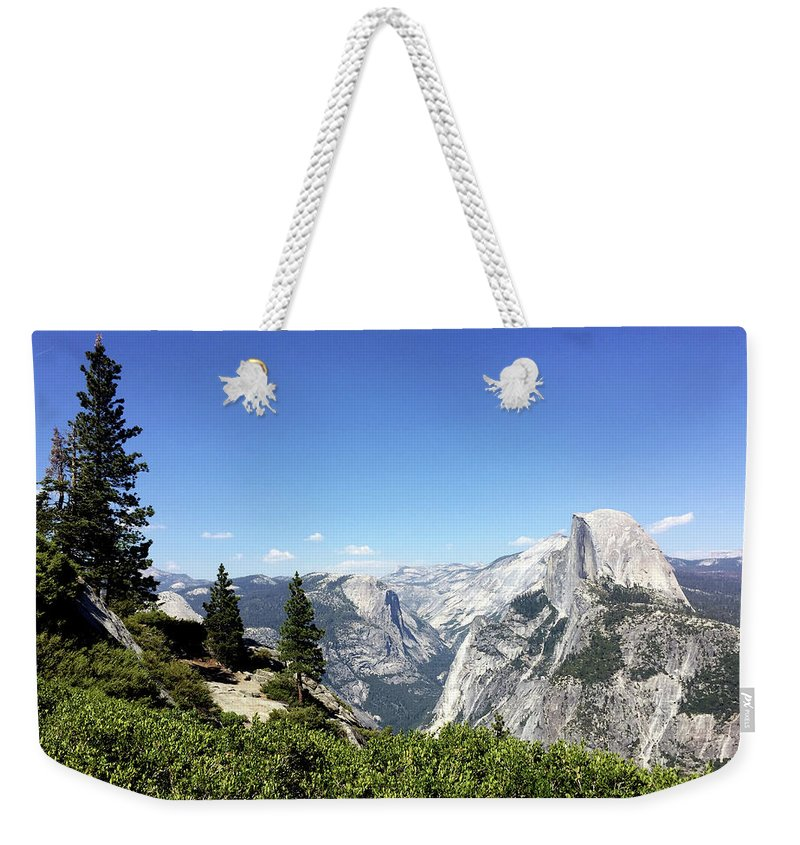 Half Dome Weekender Tote Bag featuring the photograph Half Dome by Lara Ekdahl