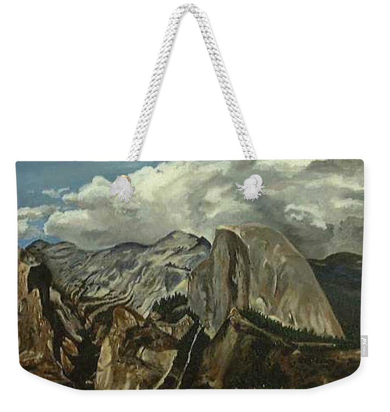 Weekender Tote Bag featuring the painting Half Dome by Travis Day