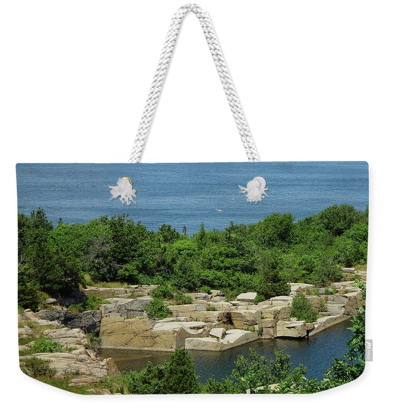 Halibut Point Weekender Tote Bag featuring the photograph Halibut Point, 5451 by James Hoolsema