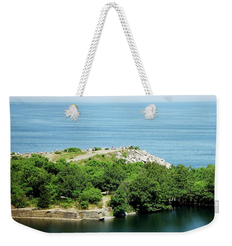 Halibut Point Weekender Tote Bag featuring the photograph Halibut Point, 5452 by James Hoolsema