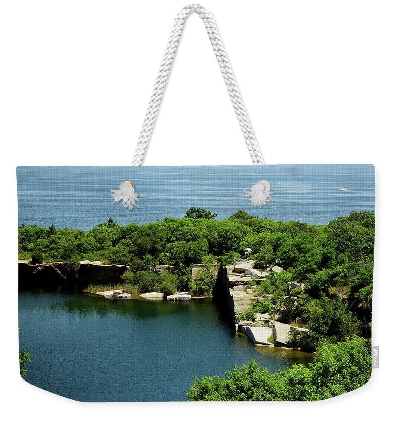 Halibut Point Weekender Tote Bag featuring the photograph Halibut Point, 5453 by James Hoolsema