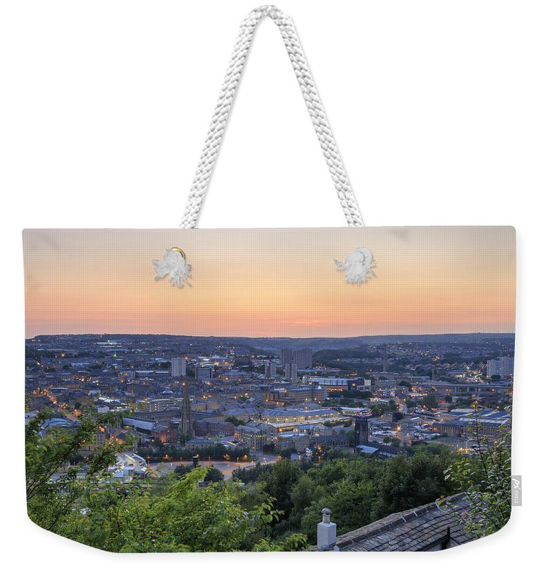Architecture Weekender Tote Bag featuring the photograph Halifax At Sunset - 2 by Chris Smith