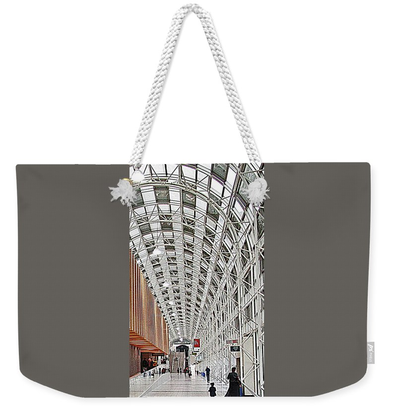Union Station Weekender Tote Bag featuring the photograph Hall of Light by Ian MacDonald