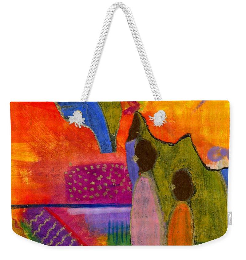 Collage Weekender Tote Bag featuring the painting Hallelujah Praise by Angela L Walker