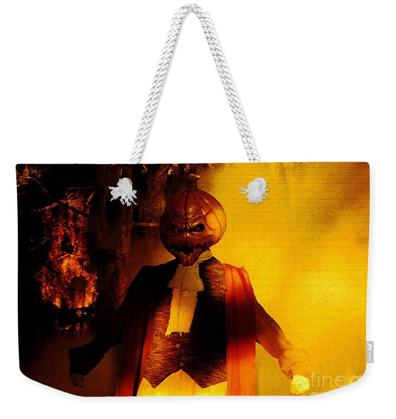 Halloween Weekender Tote Bag featuring the digital art Halloween Nightmare by David Lee Thompson