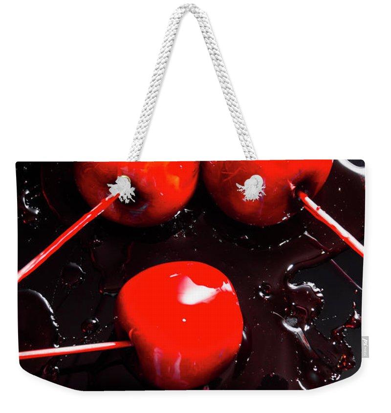 Candy Apple Red Weekender Tote Bags