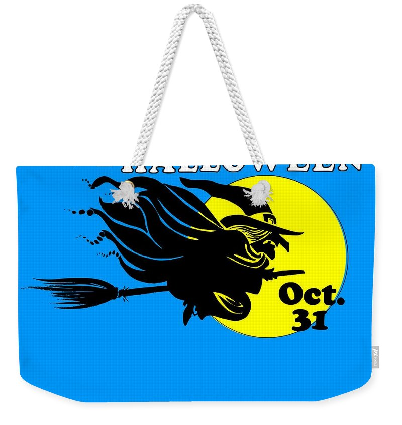 Religion Weekender Tote Bag featuring the digital art Halloween Witch #2 by Frederick Holiday