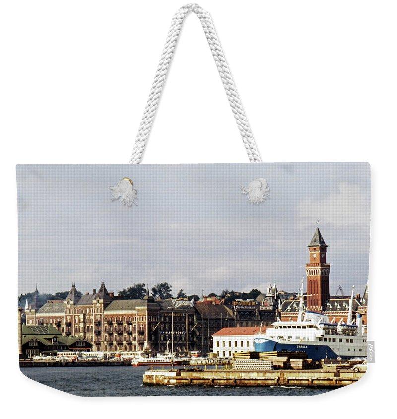 Sweden Weekender Tote Bag featuring the photograph Halsingborg 1 by Lee Santa