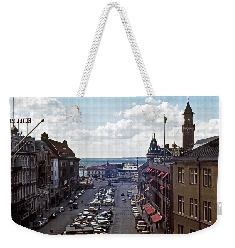 Europe Weekender Tote Bag featuring the photograph Halsingborg Sweden 1 by Lee Santa