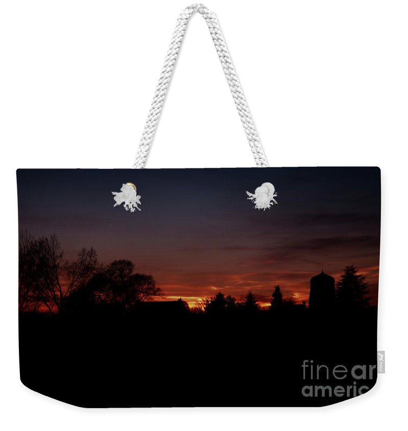 Architecture Weekender Tote Bag featuring the photograph Hammerwich Sunset by Rawshutterbug