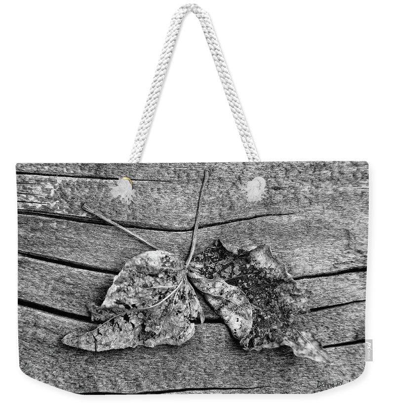 Leaves Weekender Tote Bag featuring the photograph Hand In Hand by Donna Blackhall