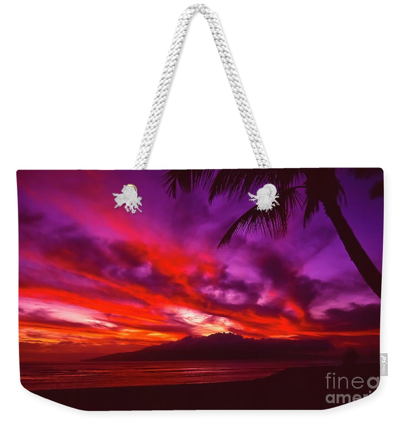 Landscapes Weekender Tote Bag featuring the photograph Hand Of Fire by Jim Cazel