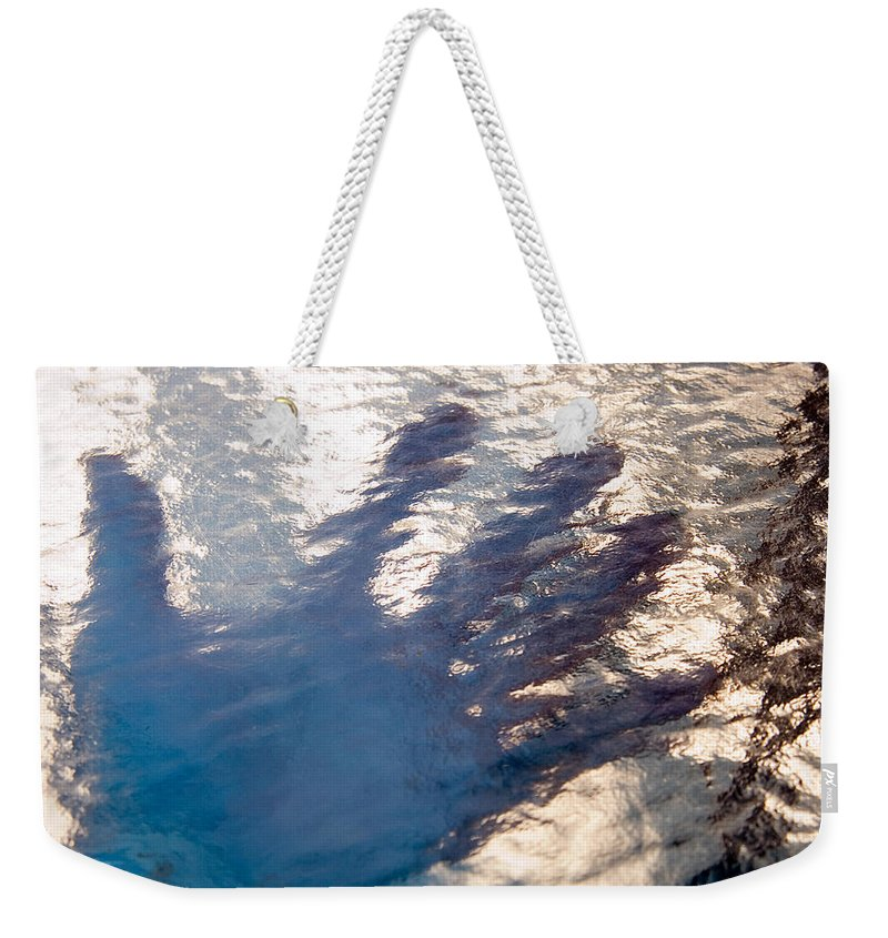 Clay Weekender Tote Bag featuring the photograph Hand Out by Clayton Bruster