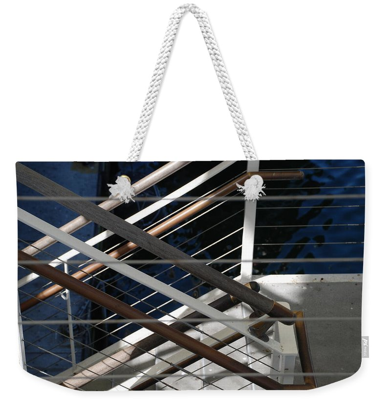 Water Weekender Tote Bag featuring the photograph Hand Rails by Rob Hans