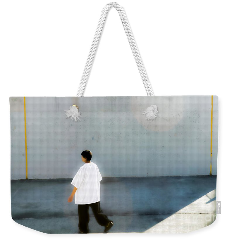 Clarence Holmes Weekender Tote Bag featuring the photograph Handball by Clarence Holmes
