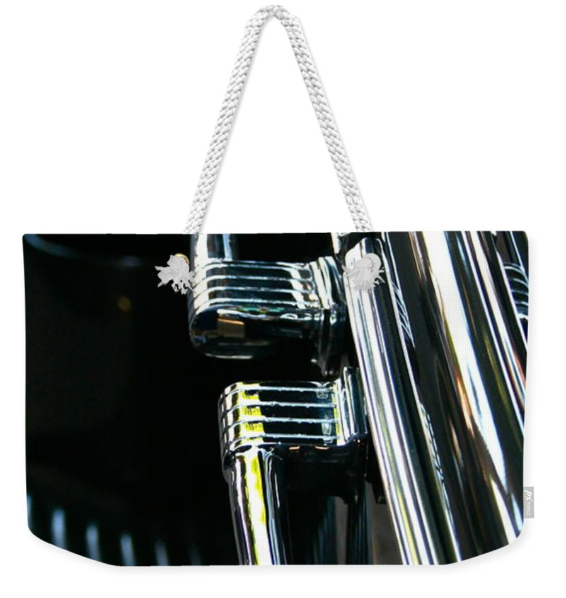 Photograph Weekender Tote Bag featuring the photograph Handles by Gwyn Newcombe