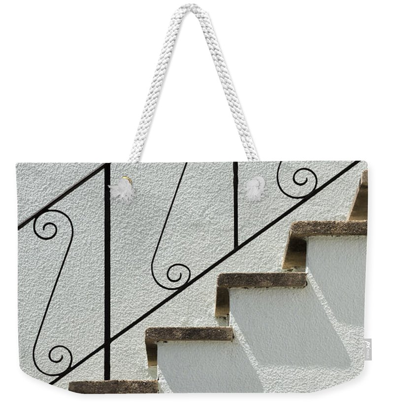 Wendy Weekender Tote Bag featuring the photograph Handrail And Steps 1 by Wendy Wilton