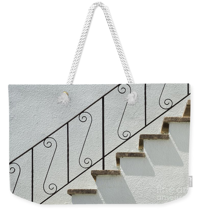 Wendy Weekender Tote Bag featuring the photograph Handrail And Steps 2 by Wendy Wilton