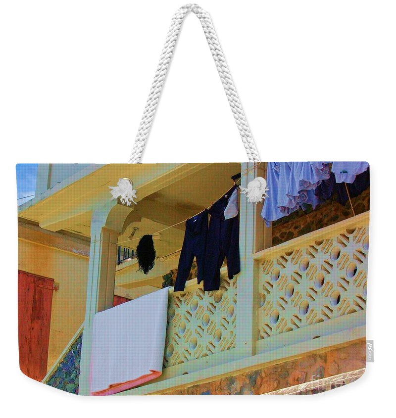 Laundry Weekender Tote Bag featuring the photograph Hang Em High by Debbi Granruth