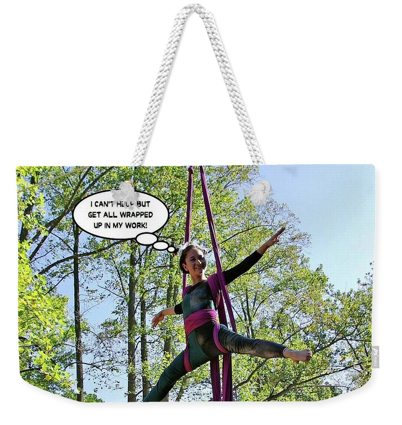 2d Weekender Tote Bag featuring the photograph Hang In There by Brian Wallace